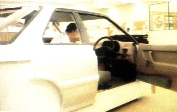 During 1988 and 1989, different versions of the R8 were worked on at Canley: this version was the unique-to-Rover three-door hatchback that eventually formed the basis of the GTi version.