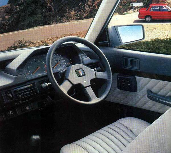 Interior of the 213 Vanden Plas, as pictured in the original Rover 200 advertising campaign: the emphasis was placed heavily on the on the exclusivity of the product. The tactic certainly worked because the car soon successfully distanced itself from the rapidly fading Maestro and Montego models in the minds of aspirational customers, even though it was dynamically their inferior. If anything the initial marketing worked too well, because when the company quizzed potential customers in 1985, the answer they got was that the 200 was too expensive for them!