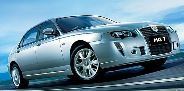 April 2007, and Nanjing's MG7 was announced - looking more like the Rover 75 than Roewe's updated effort. For those who prefered the sportier MG ZT, Nanjing produced a 7Z version...
