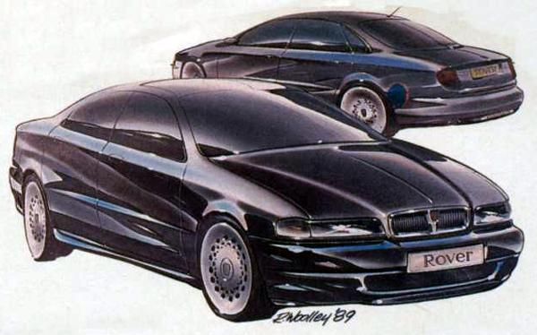 Given a less restrictive brief, Rover stylists and engineers would have liked to have produced an entirely new car, rather than facelifting the XX. This picture, released a the time of the Rover 600 launch in 1993, clearly penned in 1989 shows the way they were thinking. Would Rover have been in a stronger position in the executive market in the mid-'90s had they produced a car based on the above design?