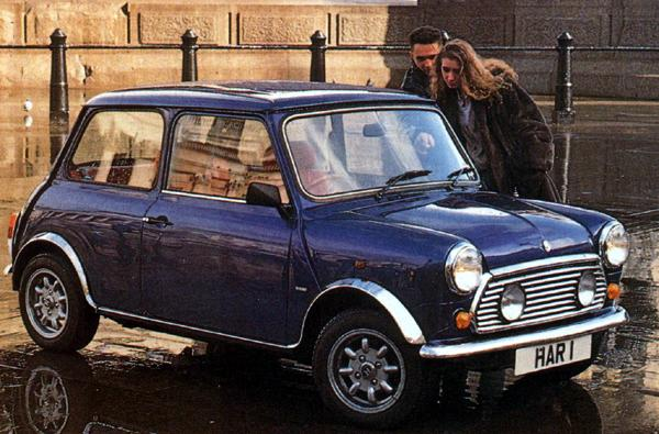 The re-born Mini de Ville attracts attention during a photo-shoot in London's Trafalgar Square.