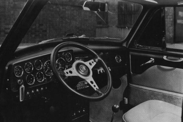 The exceptionally well-stocked (not to say confusing) instrument panel of the Radford Mini produced for Monkee Mike Nesmith. This design later found its way into some of the MkIII de Villes (see below).The exceptionally well-stocked (not to say confusing) instrument panel of the Radford Mini produced for Monkee Mike Nesmith. This design later found its way into some of the MkIII de Villes (see below).