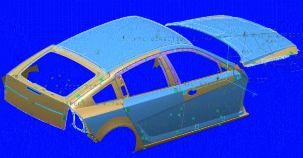 RDX60 revealed in CAD/CAM: this D1 scheme produced by TWR (see key dates, above) reveals that the car wasn't necessarily going to be as boxy as the Tourer Concept vehicle and the other concepts so far revealed, and that it could have ended up with an elegant SD1-style roofline and Alfa Romeo-like concealed rear door handles. It made it to full-size mock-up stage, too...