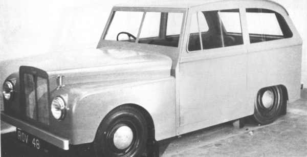 "1951 Mock-up of the ""Road Rover"" had a touch of ""Toytown"" about it, but the 2WD rugged utility wagon, as devised by Gordon Bashford, seemed like a good idea to Rover's management at the time. The continued success of the Land Rover lessened the need for a more civilised brother, so it's development continued at a leisurely pace."