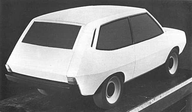 David Bache always wanted the 100-inch Station Wagon to look more like a car, less like the boxy and utilitarian device that was the Land Rover. This early clay model shows the way he wanted the design to go.