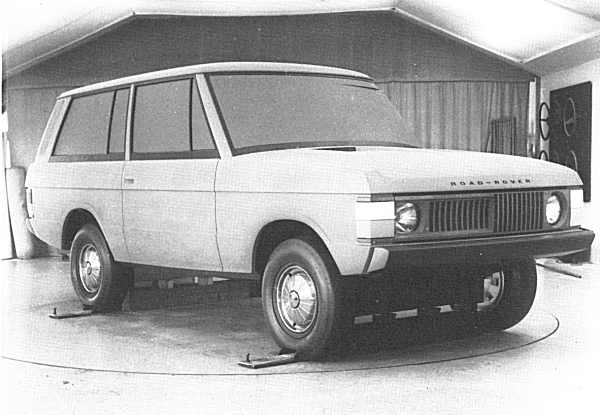 "As can be seen in this image, the David Bache studio worked on the original design, simply adding style in the more obvious areas. A more definite grille/headlamp arrangement was worked on, whilst some other detailing was tidied (look at the window surrounds, side swage lines and rear lamp clusters). This model was also badged a ""Road-Rover"" in deference to the older design study, but at the time (September 1967), it was still known simply as the 100-inch Station Wagon."