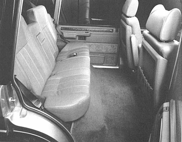The rear room in the LWB Range Rover of 1992 was truly impressive. The car's transformation from utility vehicle to luxury saloon, arguably, was complete.