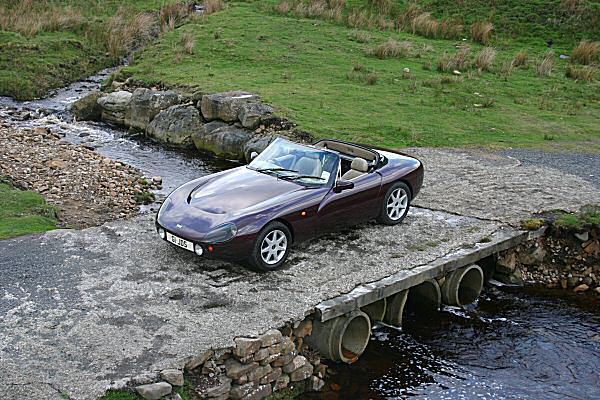 The thunder of that V8 contrasted with the peace of the Trough of Bowland...