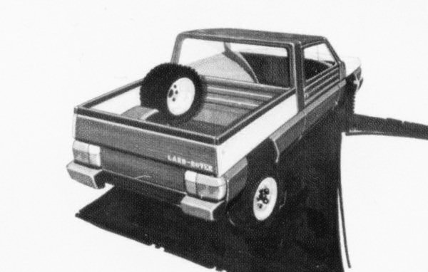 Styling sketch clearly shows that the Solihull stylists were looking to continue where the Land-Rover left off...