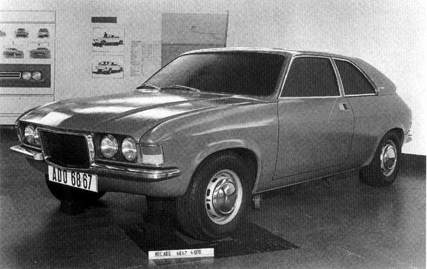 "Undoubtedly the least successful of the three ADO68 versions, this Allegro-based attempt doesn't really have anything to recommend it. This car's grille arrangement calls to mind that of the Fiat 124 coupé, while its twin-headlight arrangement eventually surfaced on the swansong Allegro 3, although some European-market cars were thus-equipped much earlier. (Picture: ""MG: The Untold Story"", by David Knowles)."