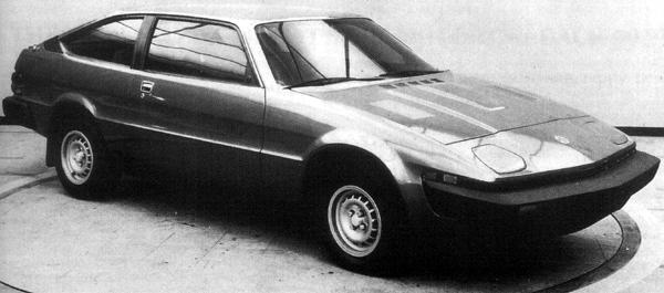 "This incarnation of Project Lynx was a promising 4-seater coupé, to be available in 4-cylinder and V8-engined forms, badged as either a Triumph or an MG. This version was the MG version, which according to plan would have been powered by a 2.0-litre version of the O-series engine, leaving the V8 for the Triumph. Certainly, the plan had been that the Lynx would replace the troublesome Stag. (Picture: ""MG: The Untold Story"", by David Knowles)."