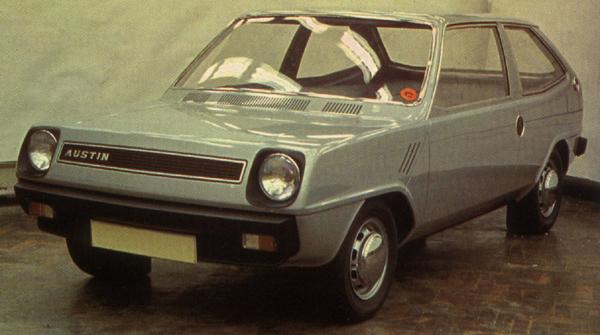 This was Michelotti's proposal for project ADO74, BLMC's first serious attempt at developing a car to replace the Mini.