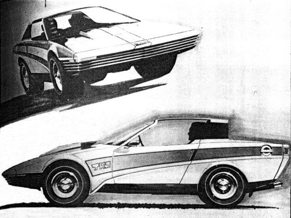 Early Harris Mann styling sketch shows that the TR7's essential character made it through to production, although the final result was somewhat watered-down from this bold proposal.