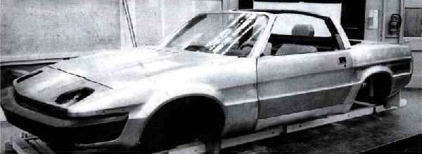 Project Broadside soon took shape at Canley: a convertible with a clever T-Bar roll over hoop redolent of the Triumph Stag and a coupé, which resembled a shortened Lynx were produced. (Picture supplied by Achim Küpper)