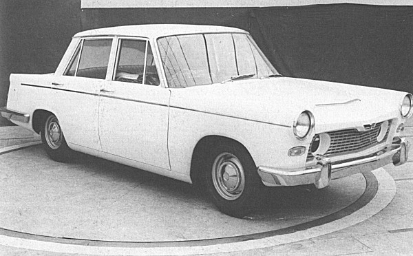 Following the expanded Herald's failure to impress management, Michelotti was asked to produce a developed version of the concept. This prototype was considered too bland to be taken seriously, even though it possessed a certain understated style that served Peugeot and BMW so well during the 1960s.