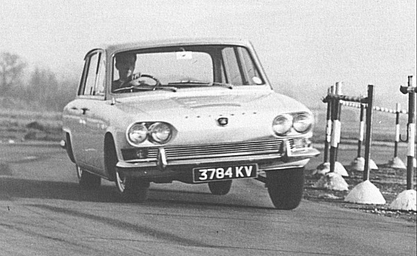A pre-production Triumph 2000 undergoing final testing at MIRA in the months leading up to its launch.