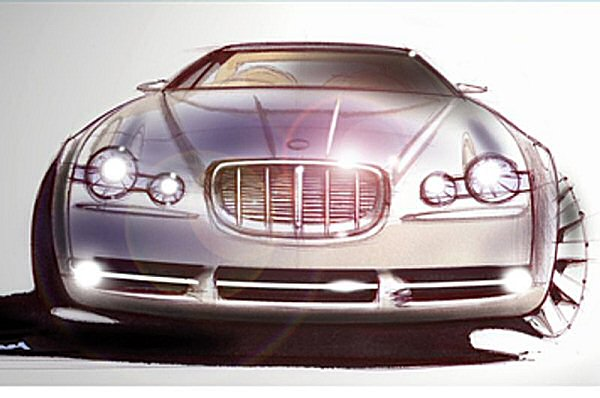Frontal styling was devised to link with XJ Series I from the earliest stages in the design process...