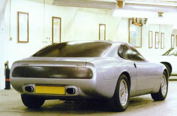 An early full-size styling model - as can be seen, much of the detail work is yet to be finalised. The blacked-out rear lamps may well have been a styling model feature at the time, but they look remarkably fresh, even today...