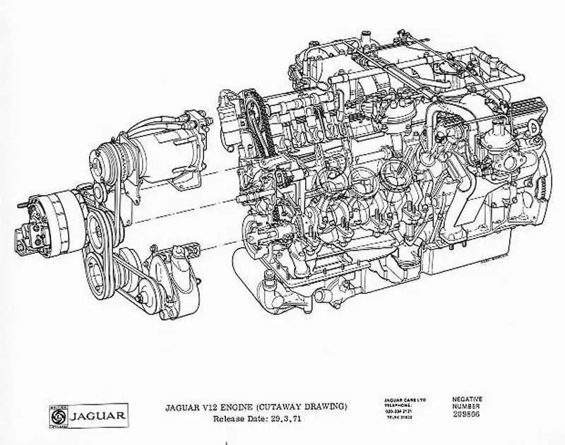 Jaguar Engine Dimensions, Jaguar, Free Engine Image For