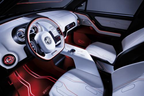 MG ZERO interior will be toned down for production
