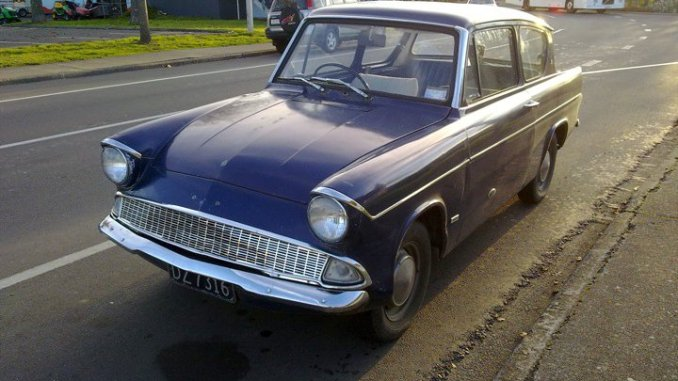 Ford Anglia 105E spotted in New Zealand