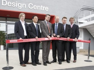 L to R: Tony Williams-Kenny, MG Design Director, SMTC UK, Wu Ming, Vice-President, SMTC UK, David Lindley, President SMTC UK/Global V-P, Advanced Engineering, Richard Hutchins, Deputy CEO, Advantage West Midlands, Brett Riley, Vice-President, MG Motor UK, Tom Marchbanks, International Investment Manager, Advantage West Midlands