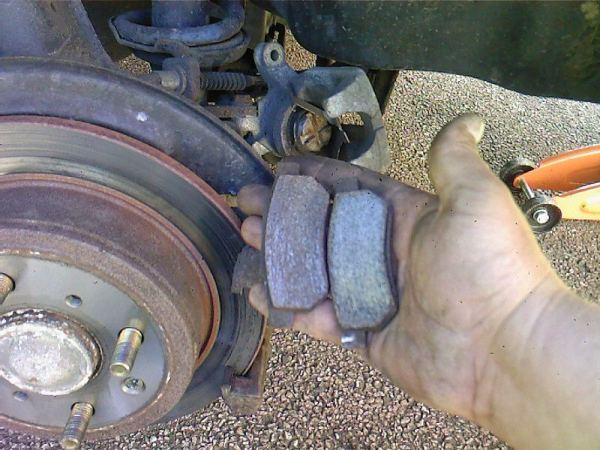Burned out MG ZS brake pads
