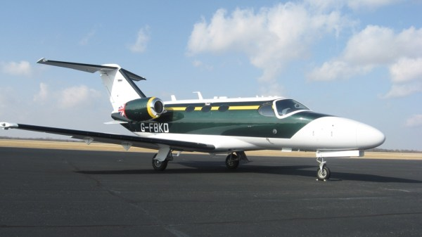 Here is the latest runabout from Group Lotus, spotted at Norwich Airport before the Lotus roundel was added to the tail. It's supplied by Blink, a European air taxi company.
