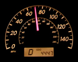 Speedometer at 70mph. But is it?