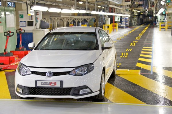 MG6 at the MG Birmingham assembly plant