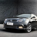 MG6 saloon has been revealed to UK journalists