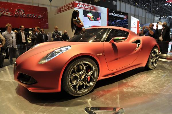 Concept star of the show: Alfa Romeo 4C