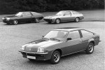 Cavalier Sportshatch in front of Concept 1 (eft) and Cocept 2 (right)