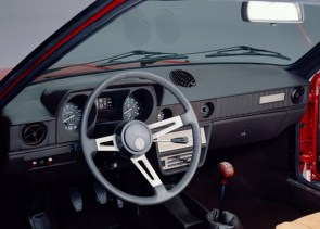 Alfasud Sprint interior was largely unchanged from the saloon.