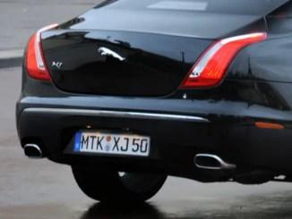 A Jaguar XJ wearing German plates, yesterday...