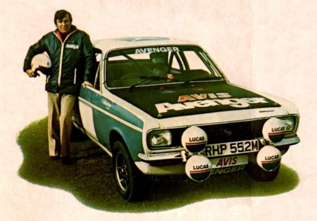 1976 Hillman Avenger with Andrew Cowan