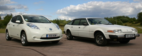 Nissan Leaf meets Rover SD1.