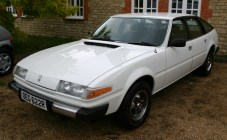 The Polish-restored Rover SD1 after a day with Perfection Valet. White's always hard to photograph, but in the metal, the paint finish and shine are now absolutely astonishing.