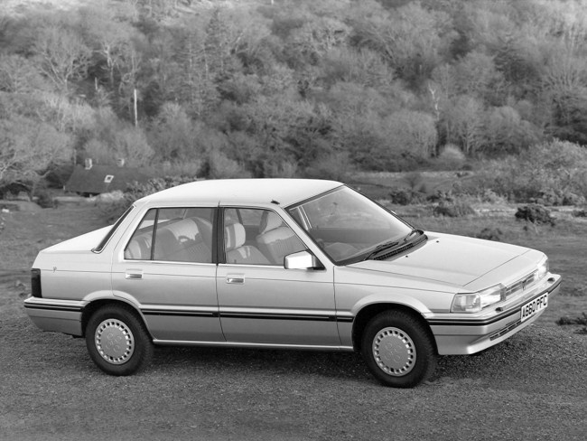 "The Rover 200 was classically 'wedge"" shaped and nowhere is that fact more evident than in this photograph. In no way can it be considered stylish in the way that more aerodynamically styled rivals were, but it was well received by the British public nonetheless."