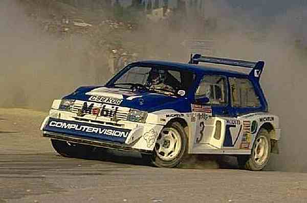 MG Metro 6R4 in Computervision livery