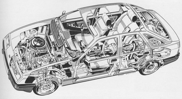 Under the skin, the Sierra was a combination of Cortina and Granada engineering.