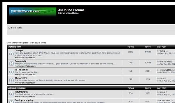 AROnline forum still going...