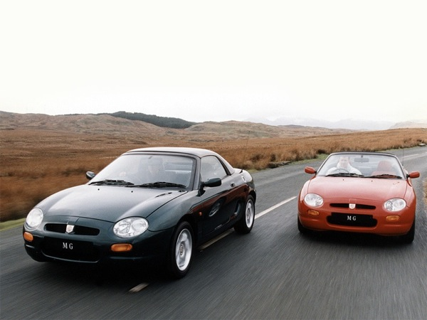 The MGF and MGF VVC at its launch in 1995