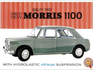 Alec Issigonis talks to Motor magazine at the launch of the Morris 1100