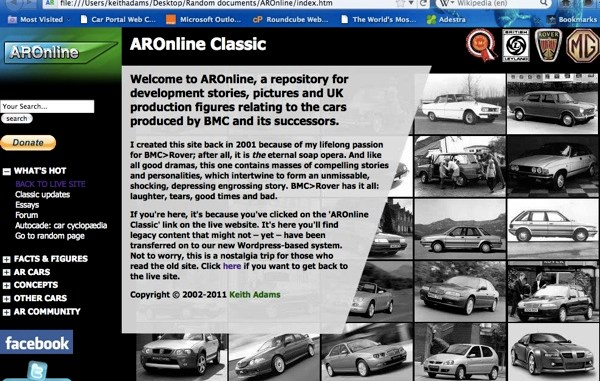 AROnline Classic is no more