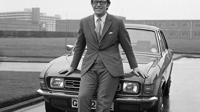 George Turnbull with the Austin Allegro - the car he helped launch in 1973.