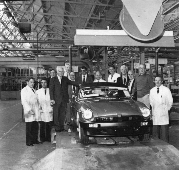 The last MGB is produced today at Abingdon.