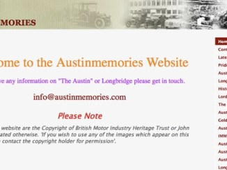 Austin Memories - an amazing website.