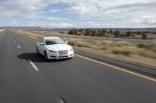 Jaguar XF crosses America and averages over 60mpg