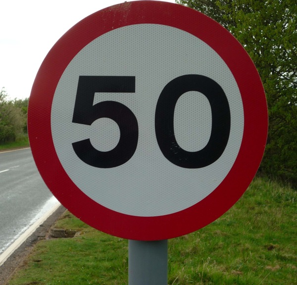 50mph limit a fuel saving measure